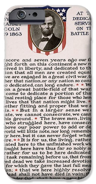 Gettysburg Address IPhone 6s Case by International  Images