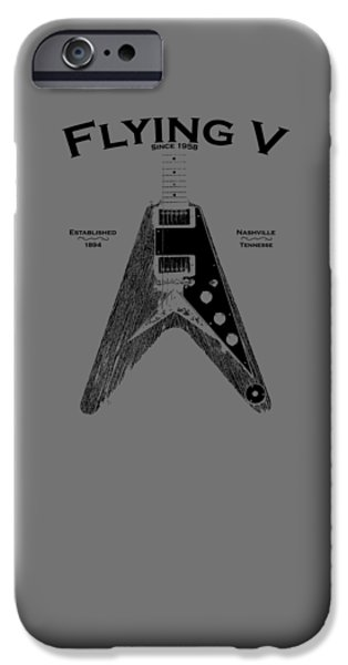 Gibson Flying V IPhone Case by Mark Rogan