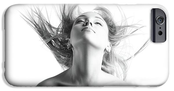 Girl With Flying Blond Hair IPhone 6s Case by Olena Zaskochenko