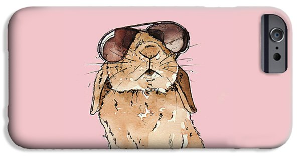Glamorous Rabbit IPhone 6s Case by Katrina Davis