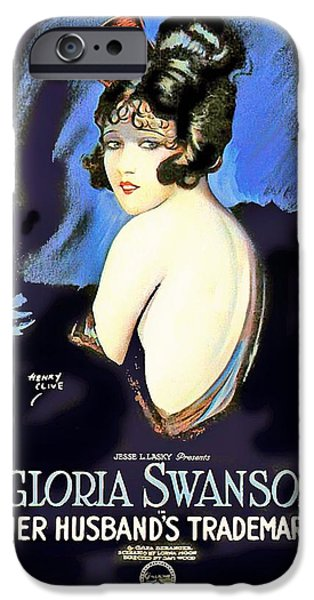 Gloria Swanson In Her Husband's Trademark 1922 IPhone Case by Mountain Dreams