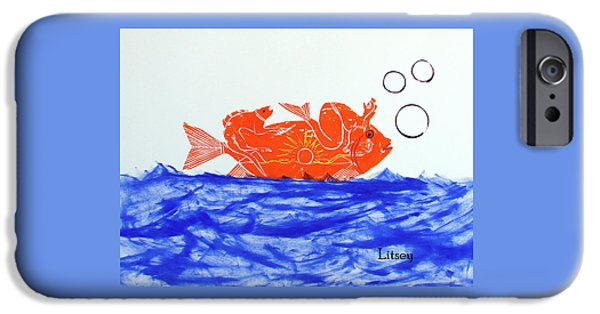 Gold Fish IPhone Case by International Artist Brent Litsey