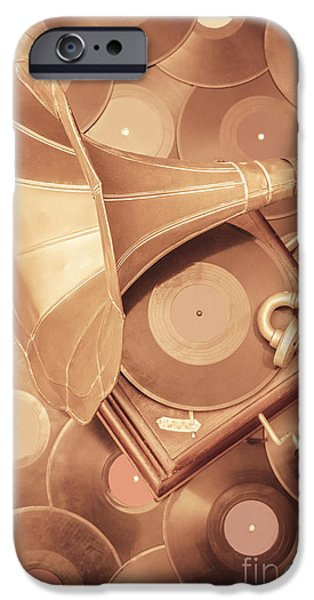 Golden Age Of Sound IPhone Case by Jorgo Photography - Wall Art Gallery