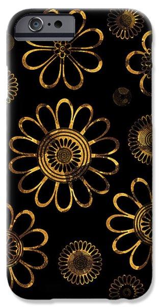 Golden Flowers IPhone Case by Frank Tschakert