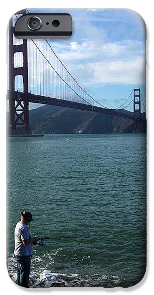 Golden Gate Fisherman IPhone Case by Aidan Moran