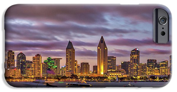 Golden Night In San Diego IPhone Case by Peter Tellone