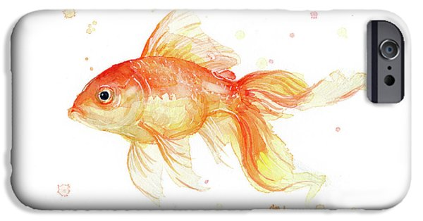 Goldfish Painting Watercolor IPhone 6s Case by Olga Shvartsur