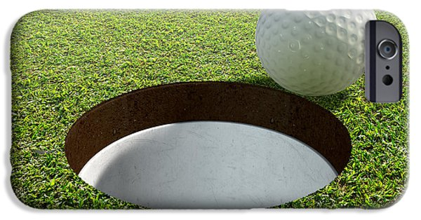 Golf Hole With Ball Approaching IPhone Case by Allan Swart