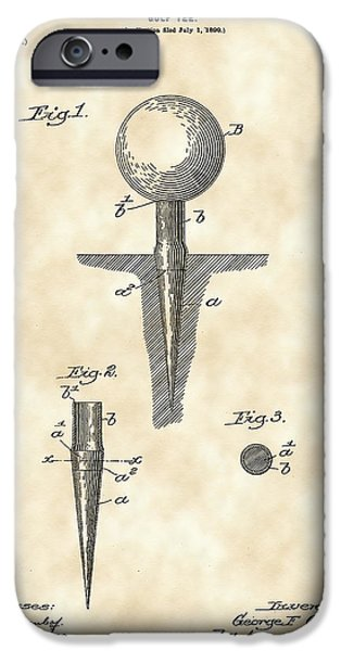 Golf Tee Patent 1899 - Vintage IPhone 6s Case by Stephen Younts