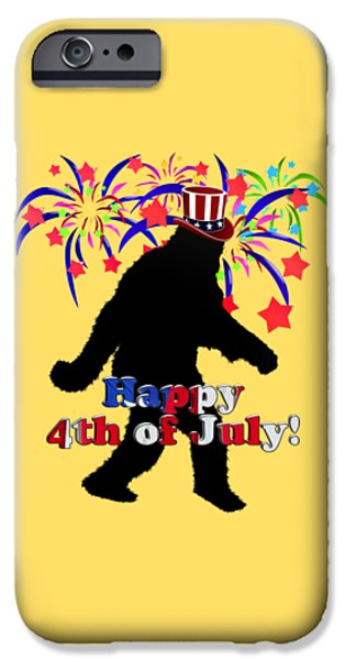 Gone Squatchin - 4th Of July IPhone Case by Gravityx9  Designs
