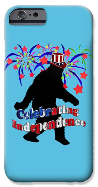 Gone Squatchin - Celebrating Independence IPhone Case by Gravityx9   Designs