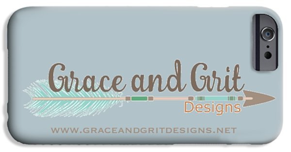 Grace And Grit Logo IPhone 6s Case by Elizabeth Taylor
