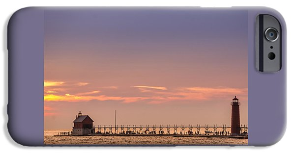 Grand Haven South Pier Lighthouse  IPhone Case by Art Spectrum