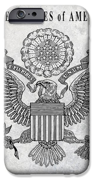 Great Seal Of The United States IPhone Case by Daniel Hagerman