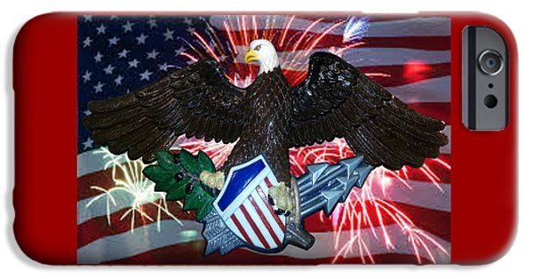 Great Seal Of The United States-fireworks IPhone Case by Carol Sue Bushell-Bousman
