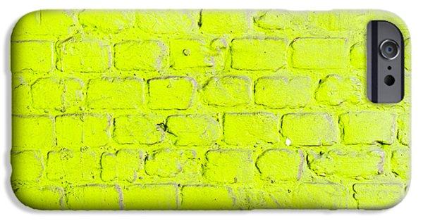 Green Brick Wall IPhone Case by Tom Gowanlock