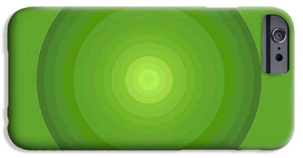 Green Circles IPhone Case by Frank Tschakert