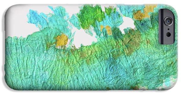 Green Earthy Abstract - Earth Dance - Sharon Cummings IPhone Case by Sharon Cummings