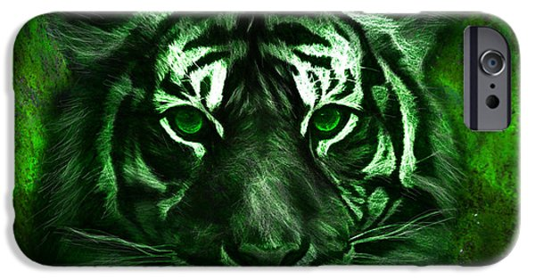 Green Tiger IPhone 6s Case by Michael Cleere