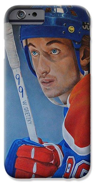 'gretzky' Wayne Gretzky IPhone Case by David Dunne