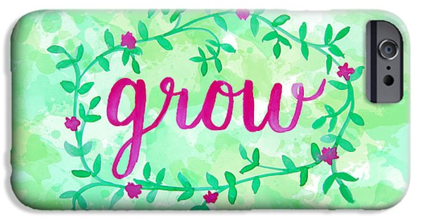 Grow Watercolor IPhone Case by Michelle Eshleman