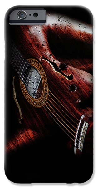 Guitar Woman IPhone Case by Marian Voicu