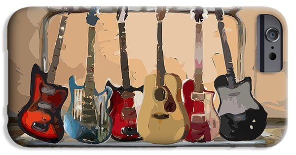 Guitars On A Rack IPhone 6s Case by Arline Wagner