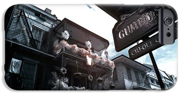 Gumbo And Mardi Gras Infrared IPhone Case by John Rizzuto