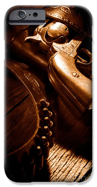 Gunslinger Tool - Sepia IPhone 6s Case by Olivier Le Queinec