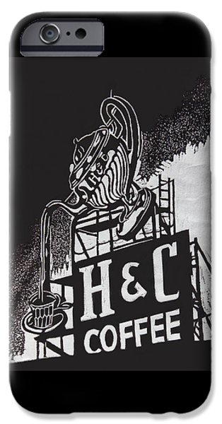 H And C Coffee Sign IPhone Case by Suzanne Gaff
