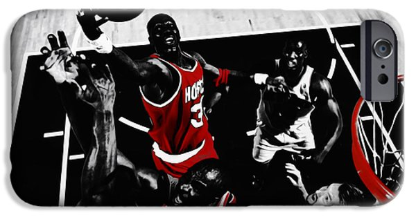 Hakeem Olajuwon Gimme Dat IPhone Case by Brian Reaves