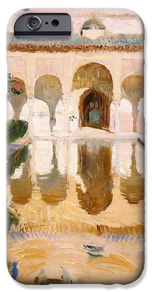 Hall Of The Embassadors Alhambra Granada IPhone Case by Joaquin Sorolla y Bastida
