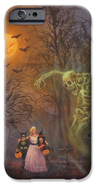 Halloween Spook IPhone Case by Tom Shropshire