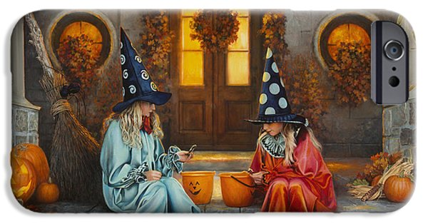 Halloween Sweetness IPhone Case by Greg Olsen