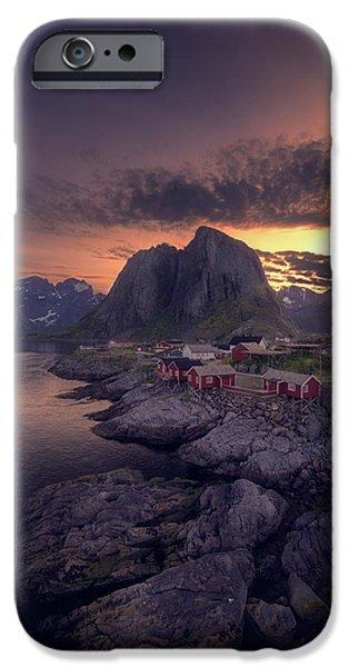 Hamnoey Sunset IPhone Case by Tor-Ivar Naess