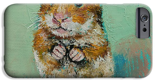 Hamster IPhone Case by Michael Creese