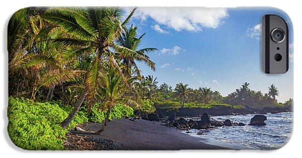 Hana Bay Palms IPhone Case by Inge Johnsson
