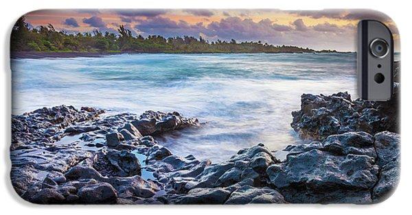 Hana Bay Rocky Shore #1 IPhone Case by Inge Johnsson