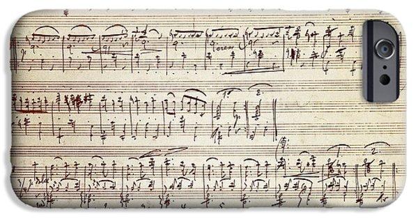 Handwritten Score For Waltz For Piano, Opus 39 IPhone Case by Johannes Brahms
