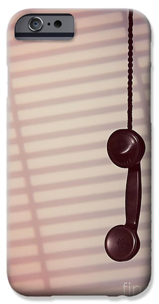 Hanging Phone Receiver IPhone Case by Amanda And Christopher Elwell