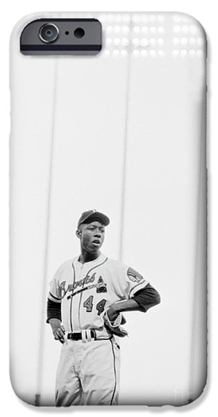 Hank Aaron On The Field, 1958 IPhone 6s Case by The Harrington Collection