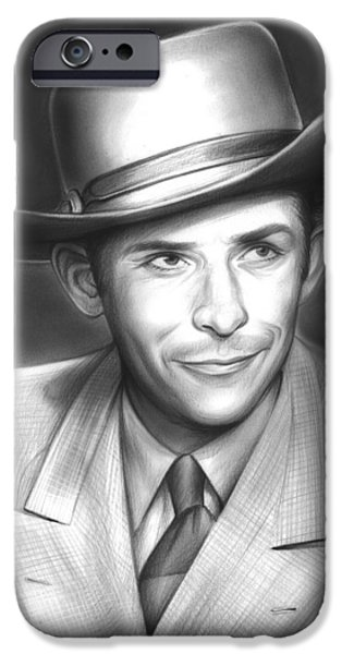 Hank Williams IPhone Case by Greg Joens