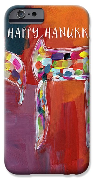 Hanukkah Chai- Art By Linda Woods IPhone Case by Linda Woods