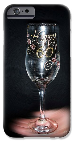 Happy 60th Birthday IPhone Case by Kaye Menner