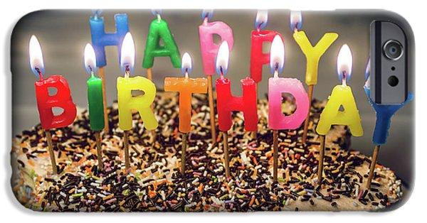 Happy Birthday Candles IPhone Case by Carlos Caetano