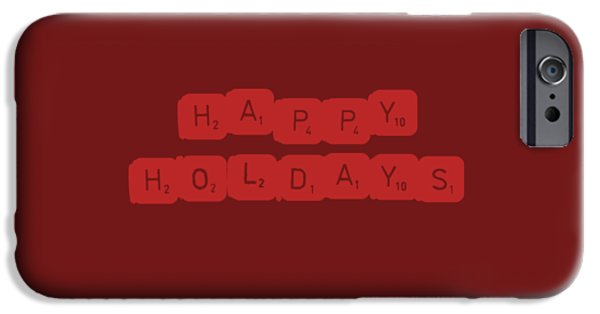 Happy Holidays IPhone Case by Rosemary OBrien