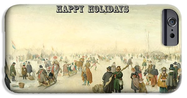 Happy Holidays IPhone Case by Roy Pedersen