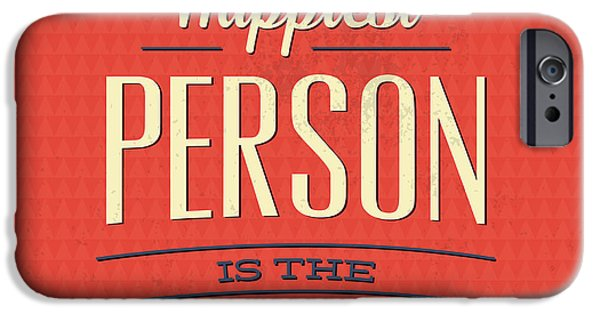 Happy Person IPhone Case by Naxart Studio