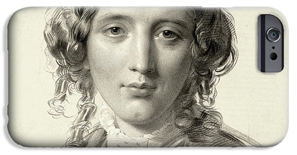 Harriet Beecher Stowe IPhone Case by Francis Holl