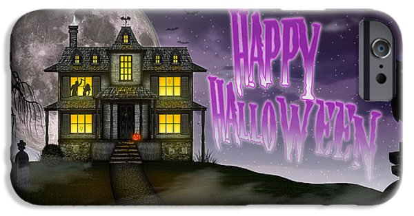 Haunted Halloween IPhone Case by Anthony Citro